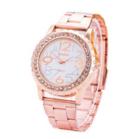 Fashion Womens Rose Gold Steel Strap Watches Girls Casual Sports Watch Best Christmas Gift Watch