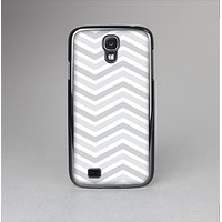 The Subtle Wide White & Gray Chevron Skin-Sert Case for the Samsung Galaxy S4
