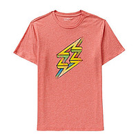 Cremieux Jeans Short-Sleeve Geo Bolt Tee - Coral Heather