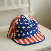Vintage Deadstock American Flag Cap Crafted with Pride in USA