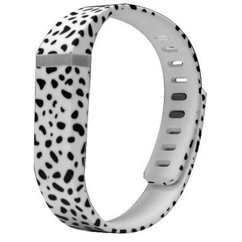 I-SMILE® 1PC Replacement Bands with Metal Clasps for Fitbit Flex / Wireless Activity Bracelet Sport Wristband / Fitbit Flex Bracelet Sport Arm Band (No tracker, Replacement Bands Only) (Dalmatian, Small)