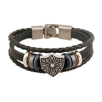 Unisex Leather Bracelet & Bangles Jewelry