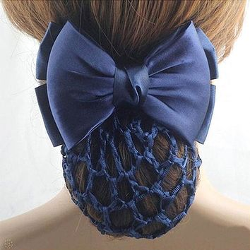 LNRRABC Blue Hairbands Stewardess Bank Staff Nurse Professional Network Flower Clip Bows Headwear Women Hair Accessories