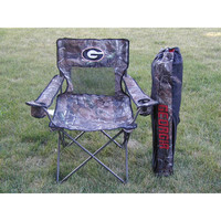 Georgia Bulldogs NCAA Ultimate Real Tree Camo Adult Tailgate Chair