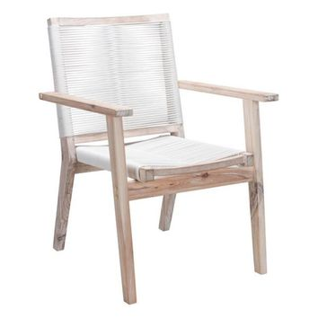 South Port Dining Chair White Wash & White (Set of 2)