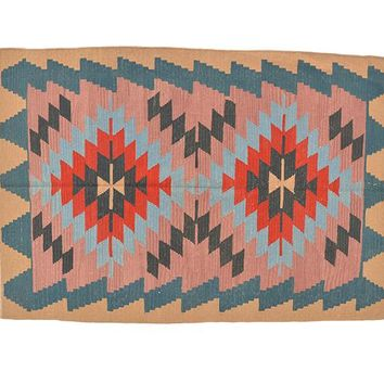 "Turkish Kilim Turkish 5' 6"" X 3' 9"" Handmade Rug"