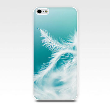 dandelion iphone case 6 iphone 5s case abstract iphone  case 4s feather iphone case 4 girly iphone case 5 aqua teal iphone case pastel blue