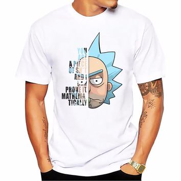 Rick And Morty Funny Head Portrait Anime T-Shirt