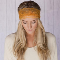 Gold Rust Lace Headband