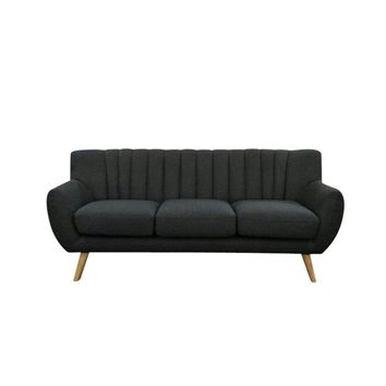 "Modern Scandinavian Dark Grey ""Lilly"" 3-Seater Sofa"
