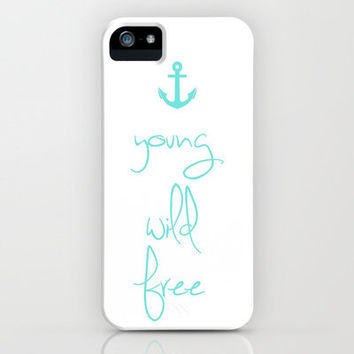 Young wild free anchor Tiffany mint iPhone Case by RexLambo | Society6