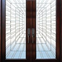 Exterior Front Entry Double Wood Door- Time Tunnel 36X80X2, Right Hand Swing In - Transitional - Front Doors - by US Door and Window Inc.