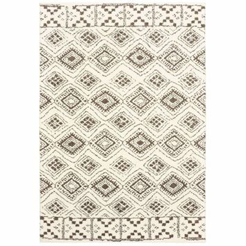 Oriental Weavers Verona Ivory Brown Geometric Tribal Casual Rug