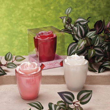 6 Rose Candles - Rose Scent