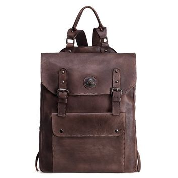 BLUESEBE VINTAGE HANDMADE GENUINE LEATHER BACKPACK 9025