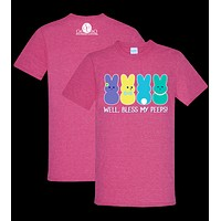 Southern Couture Preppy Bless My Peeps Bunny T-Shirt