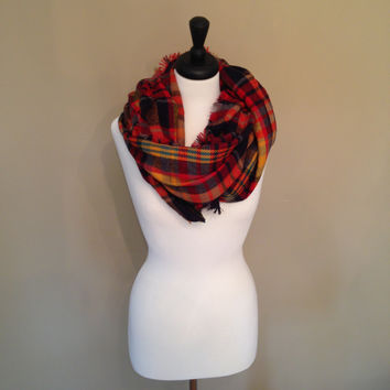 Fall Blanket Scarf by KnitPopShop