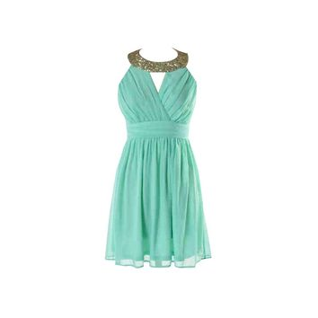 Mint Sequin Dress - Kely Clothing