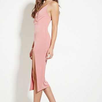High-Slit Midi Dress