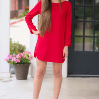 Step Up Dress - Red