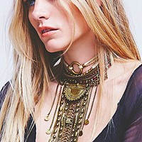 Free People Womens Exaggerated Fringe Collar