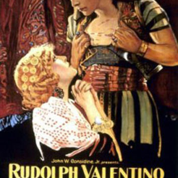 The Son Of The Sheik Rudolph Valentino Vintage Movie Poster