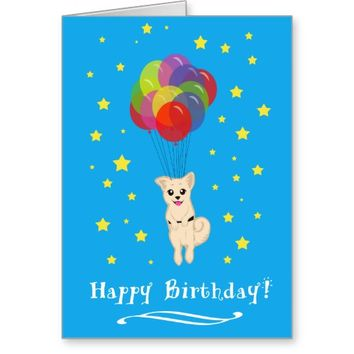 Puppy with Balloons Card