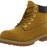Timberland 6-Inch Premium Waterproof Boot (Toddler/Little Kid/Big Kid),Wheat Nubuck,4.5 M US Big Kid
