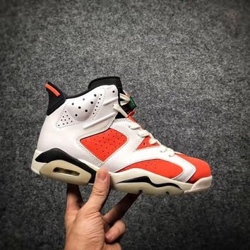 New arrival air jordan retro 6 shoe Gatorade Man Basketball Shoes Red Orange top quality retro 6s Womens sport Trainer Sneakers size eur 36-47
