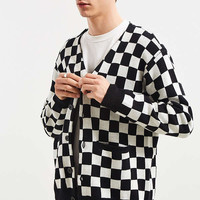 Lazy Oaf Mono Check Cardigan Sweater | Urban Outfitters
