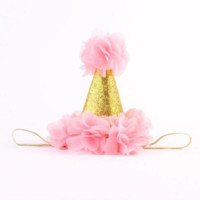 Pink and Gold Birthday Baby Hat