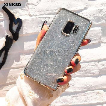Glitter Bling Silicone Phone Case for Samsung Galaxy A8 A6 J4 J6 J2 Pro  2018 S9 29bc49816a