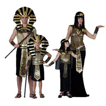 Exotic Egyptian Pharaoh Cleopatra Cosplay Costumes For Men Women Halloween Party Princess Cosplay Masquerade Party