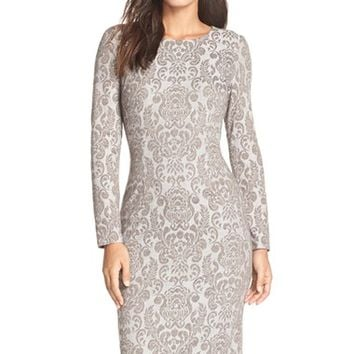 Women's Maggy London 'Wallpaper' Jacquard Midi Dress,