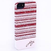 iPhone 5 iPhone 5s Joy Christmas Holiday Snap-On Cell Phone Case. Designer Luxury Stylish Cool Hard Case for Girls Women Females - Protect your case while showing off your style! Image wraps around the sides, top, and bottom. Our cases make great stocking