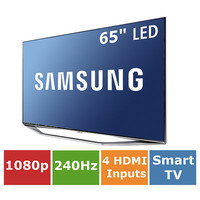 "Samsung 65"" Ultra Slim Smart LED 1080p 240Hz Wi-Fi Web Browser"