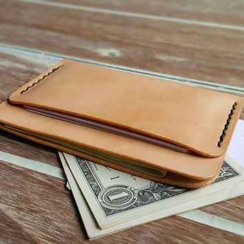 VISA card wallet, Groomsmen Gift, Leather wallet, Mens wallet, Sleeve card wallet, Personalized Minimalist Wallets