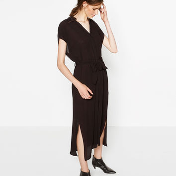 LONG TUNIC WITH SLITS - NEW IN-WOMAN | ZARA United Kingdom