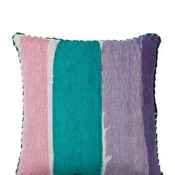 Emerald Stripe Pillow