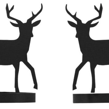 Wrought Iron Deer Curtain Tie Back -Set