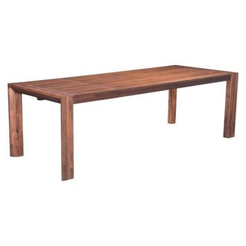Zuo Perth Extension Acacia Wood Dining Table Rustic Chestnut