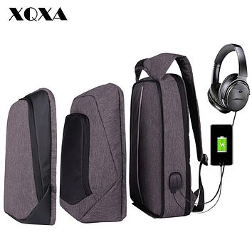 Laptop Backpack Men Women USB Anti Theft Computer Bag Water-resistent College School Backpack Unsex Laptop Bagpack