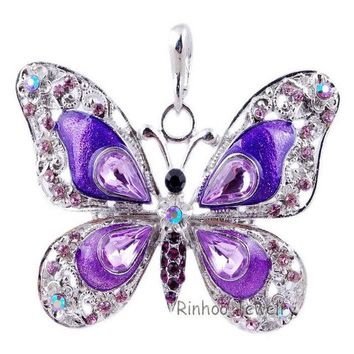 Butterfly Sweater Pendant Necklace For Women