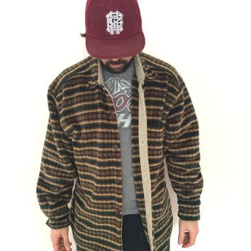 True grit thick tribal velvet and corduroy coat