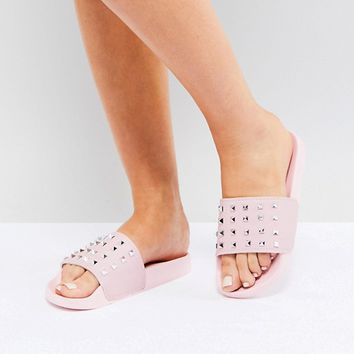 Truffle Collection Studded Slider at asos.com