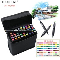 TouchFIVE 30/40/60/80 Colors Drawing Marker Pen Animation Sketch Art Markers Set For Artist Manga Graphic Based Markers Brush