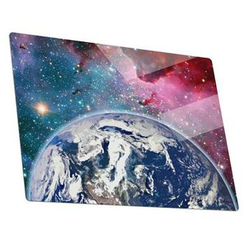 Fantasy Galactic Earth All Over Metal Panel Wall Art Landscape - Choose Size by TooLoud