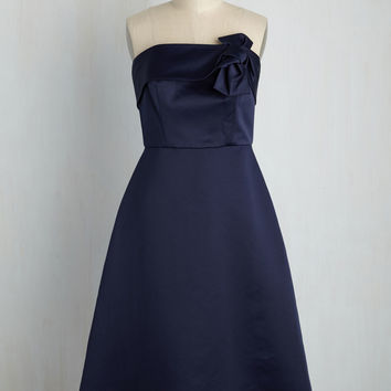 The Way Love Grows A-Line Dress in Midnight | Mod Retro Vintage Dresses | ModCloth.com