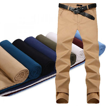 Men Slim Fit Casual Pants