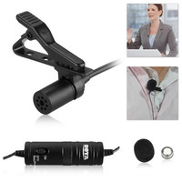 Boya Omnidirectional Lavalier Condenser Microphone-20ft Audio Cable- for DSLRs Camcorders Video Cameras and Iphone Smart Phone